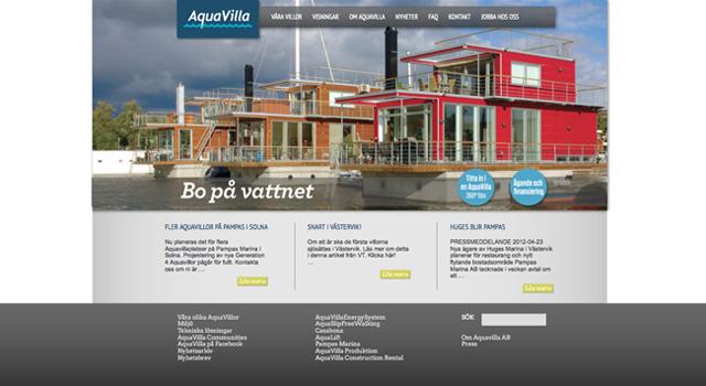 Webmastertjänst för Aquavilla