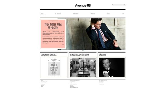 Webbplats och webbshop till Avenue 68