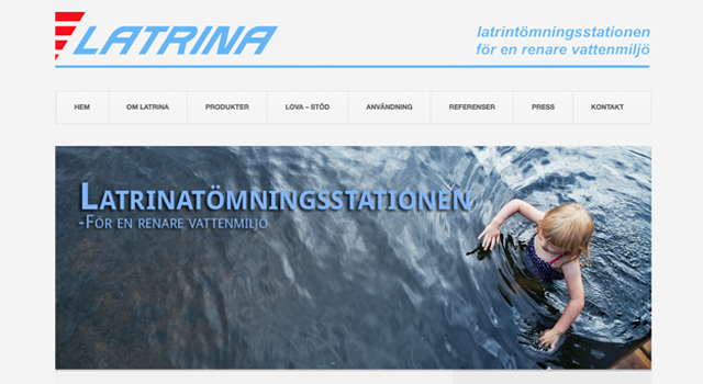 Webbplats och Webmastertjänst till Latrina