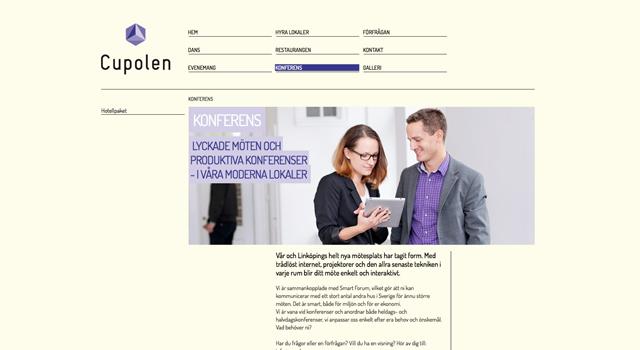 Webbplats och Webmastertjänst till Cupolen