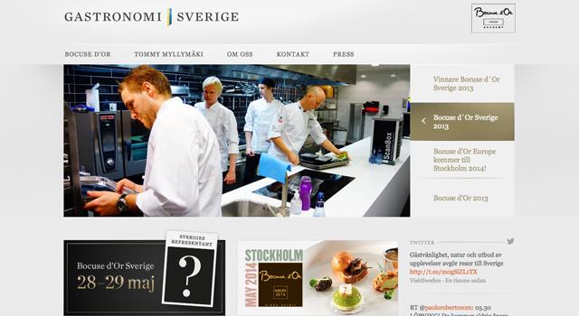 Webmastertjänst för Gastronomi Sverige AB