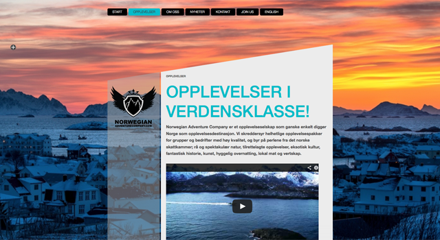 Webbplats till Norwegian adventurecompany