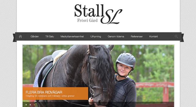 Webbplats till Stall-SL